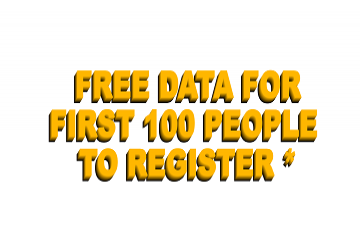 Free Data for First 100 People to Register